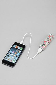 Printed Portable Phone Charger #urbanoutfitters #iphonecharger
