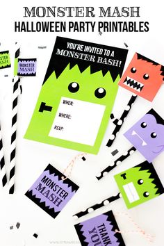 Monster Mash Halloween Party Printables