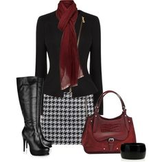 """""""Houndstooth"""" or How to be a Gamecock in the office without wearing your tshirts, sweatshirts, hats, pompom ponytail holders, and other inappropriate office attire. :)"""
