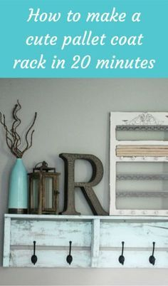 How To Make A Cute Pallet Coat Rack In 20 Minutes You Know Me