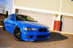 BMW M3 e46 in Laguna Seca Blue. Stunning car to look at, and the sound of them too...