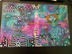 Cover of my first (Dyan Reaveley) art journal. Miranda Bosch - Thurlings