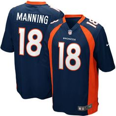 Youth Denver Broncos Peyton Manning Nike Navy Blue Alternate Game Jersey eb21e5973