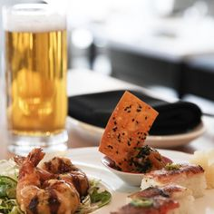 Cheering on the @raptors tonight?! Come into #MikuToronto from 3 p.m. - 7 p.m. for our Game Day Special. Enjoy an Ebi Oshi Salmon Oshi Saba Oshi Ebi Fritter Feature Tartare and a beer for only $18! #aburi #aburirestaurants #sushi #torontoraptors #WeTheNorth #toronto by aburirestaurants