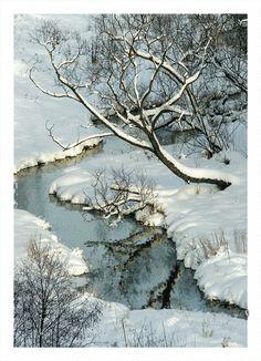 Фото ручей - Снег, зима