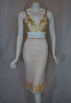 1930s Vanity Fair Radia Half slip paired with a late 1930s Maidenform Dec-la-tay Rayon Satin Bra