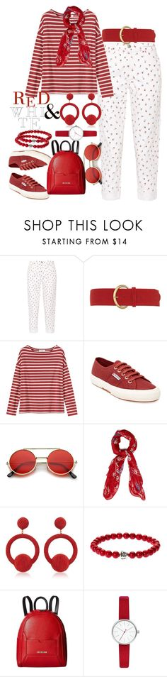 """""""Untitled #1055"""" by saritanwa ❤ liked on Polyvore featuring Current/Elliott, Dorothy Perkins, Toast, Superga, ZeroUV, Alexander McQueen, Rebecca de Ravenel, Love Moschino and Skagen"""