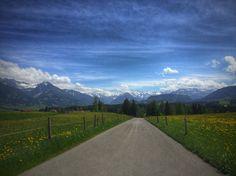 Auf dem Weg in die Berge