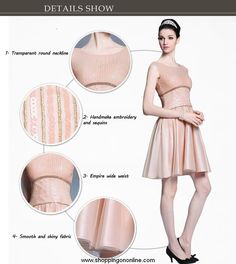 Short Prom Dress - Champagne Cap Sleeves $173.60 (was $217) Click here to see more details http://shoppingononline.com/short-prom-dresses/short-prom-dress-champagne-cap-sleeves.html #ShortPromDress #ChampagnePromDress #PromDressWithSleeves #CapSleevesPromDress #ChampagneDress
