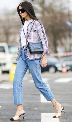 Pair the Gabrielle bag with one of Chanel's other staples: a tweed jacket.
