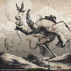 goobit and the whale. , patricio (ninosboombox ) razo on ArtStation at https://www.artstation.com/artwork/goobit-and-the-whale