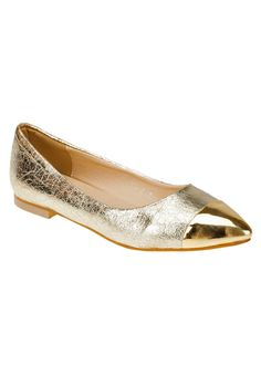 Milly Shoes French Tip Metallic Flats 672 THB