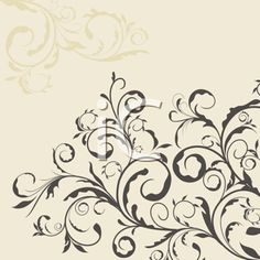 Royalty Free Clipart Image of a Floral Template