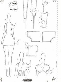 Este post de hoje é para as amigas apaixonadas pela boneca Tilda! Eu acho um trabalho muito bonito, sempre estou procurando modelos para ins...