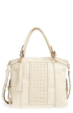 24d15af337 Sole Society Oversize Woven Tote available at  Nordstrom Triangle Body  Shape