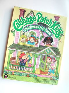 I had this!!! Cabbage Patch Kids Colorforms Play House, 80's Childrens Toy Set