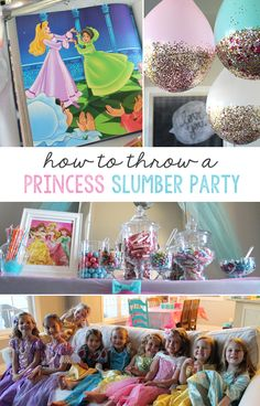 how to throw a princess slumber party