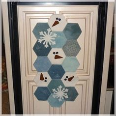 AccuQuilt Hexagon Door Hanging I think this would also be a cute tablerunner.