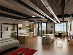 open concept loft