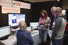 Plenty of interest at the eTV exhibition stand.
