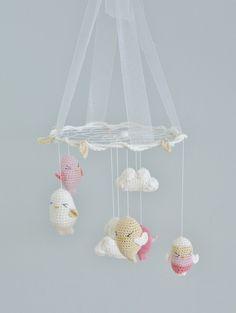 Mobile/ Attrape rêve suspension cui-cui et nuage