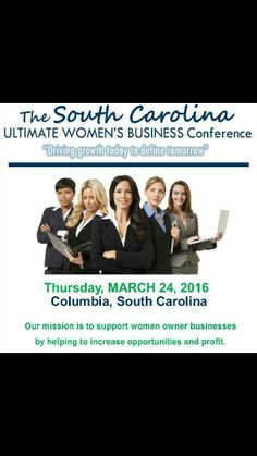 I will be speaking at the South Carolina  Ultimate #Business Conference for #Women right after The Colloquium on March 24th. Come and join me as I discuss how women leave abundant opportunities on the table due to the fear of rejection. .. more details are on the way ... www.theconfidencefactorforwomen.com