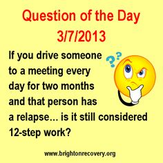 Recovery question of the day 3-7-13