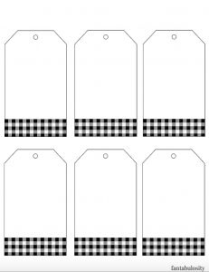 Free printable christmas gift tags templates black and white