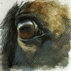 Look I Original Horse Pastels Drawing by benedictegele on Etsy