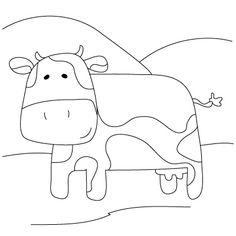 how to draw a cow for kids and many more animals step by step
