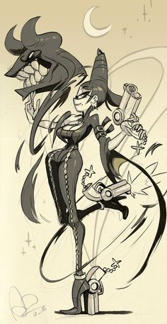 Fan art - Bayonetta by Video Game Logic, Video Game Art, Video Games, Skullgirls, Game Character, Character Design, Character Sketches, Oc Manga, Platinum Games