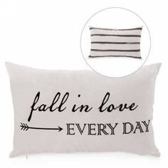 Rect IN LOVE cushion - striped reverse