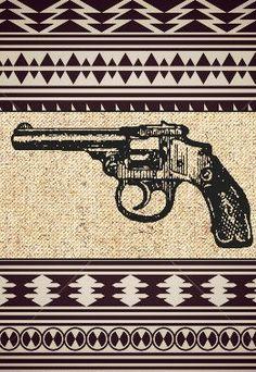 TEMPORARY TATTOO GUN /small vintage gun / temporary by CheapVows