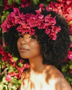 15 Times Naturalistas Looked Drop Dead Gorgeous With Flowers In Their Hair Natural Afro Hairstyles Dead Drop flowers Gorgeous Hair looked Naturalistas Times Natural Hair Journey, Natural Hair Care, Natural Hair Styles, Natural Beauty, Natural Hair Accessories, Big Hair, Your Hair, Short Hair, Dark Curly Hair