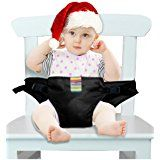 The Washable Portable Travel High Chair Booster Baby Seat with straps Toddler Safety Harness Baby feeding the strap (6 Color) (Black) by Wotvo