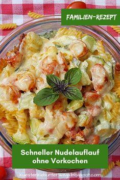 Familien-Rezept: Schneller Nudelauflauf ohne Vorkochen. Ihr wollt einen leckeren Auflauf mit Nudeln, dafür aber nichts vorher kochen oder anbraten? Das geht! Die Zubereitung für das leckere Pasta-Gericht sowie die Zutaten wie Tomaten und Zucchini verrate ich Euch auf Küstenkidsunterwegs. #nudelauflauf #ohne #vorkochen #rezept #nudeln #auflauf #nicht #kochen #faul #zutaten #zubereitung #rohe #pasta #zucchini #tomaten #käse #familie #kind #familienrezept #essenmitkind