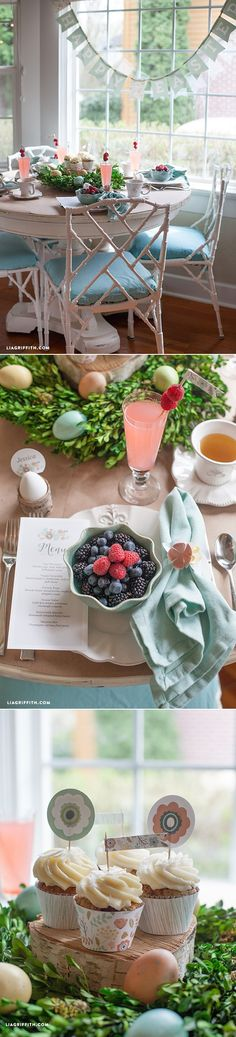 #FreePrintable #EasterBrunch at www.LiaGriffith.com