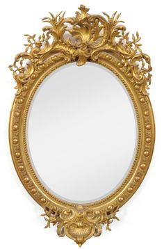 Tennants Auctioneers: An Early Victorian Gilt and Gesso Oval Wall Mirror