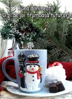Good Morning, Fancy, Table Decorations, Christmas Ornaments, Mugs, Holiday Decor, Buen Dia, Bonjour, Christmas Jewelry