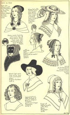 17th century hats and hair styles
