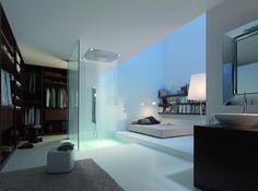 Resultado de imagen de baños modernos con hechos con cristal