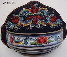rosemaling furniture | Bowl made and Rosemaled in Norway. Previously used for a Rosemaling ...