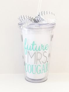 Future Mrs. Tumbler. Looking for a gift for a newly engaged friend or for a bridal shower? Our future MRS tumbler is a best seller and the thoughtful gift you're looking for! $12