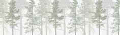Weaving Wood Cool Green - Wall Mural & Photo Wallpaper - Photowall