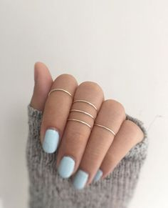 5 silver knuckle ringssilver ring setmidi ring от baublesbybets
