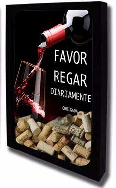 Quadro Porta Rolhas de Vinho 42x55
