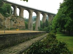 One of the elegant viaducts connecting Luxemburg City with the surrounding land: a great spot to run