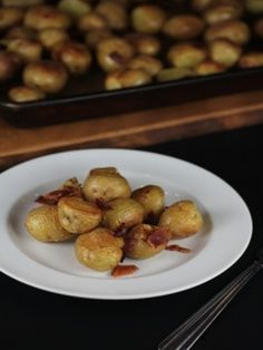 Roasted Potatoes with Bacon - Lynn's Kitchen Adventures
