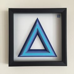 3D layered paper Blue Triangle by POWpaper on Etsy