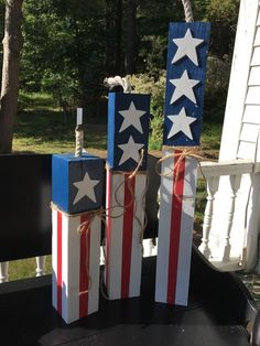 Patriotic Decor for Labor Day, Memorial Day & July Primitive, country indoor/outdoor/solid wood Fouth Of July Crafts, 4th July Crafts, Fourth Of July Decor, Patriotic Crafts, 4th Of July Party, Patriotic Decorations, July 4th, Americana Crafts, Craft Activities For Kids